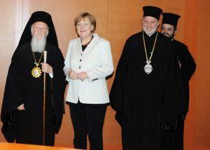 La chancelière Angela Merkel condamne la transformation de Sainte-Sophie de Constantinople en mosquée et apporte son soutien au patriarche Bartholomée