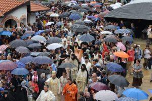 Liturgie solennelle à l'occasion de l'exhumation des reliques de saint Justin de Ćelije
