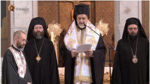 Te Deum en la cathédrale Saint-Stéphane à l'occasion de la fête patronale du patriarche oecuménique Bartholomée 1e