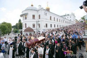 L'archevêque Job de Telmessos aux funérailles du métropolite Vladimir de Kiev