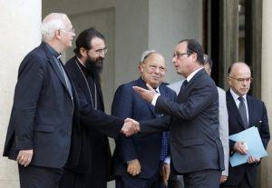 Des responsables religieux, dont le métropolite Joseph, reçus à l'Elysée