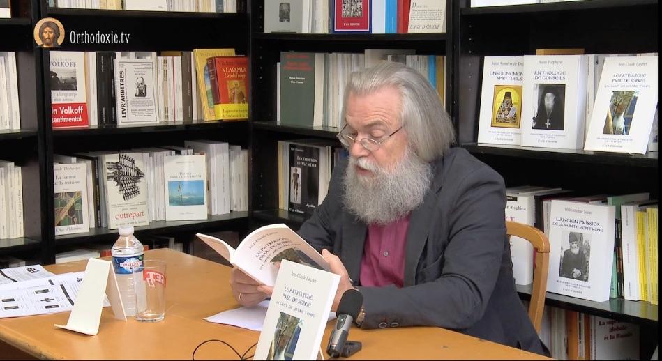 """Vidéo de la présentation du livre """"Le patriarche Paul de Serbie. Un saint de notre temps"""" par Jean-Claude Larchet"""