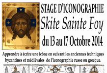 Un stage d'iconographie au skite Sainte-Foy du 13 au 17 octobre