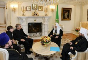 Le patriarche de Moscou Cyrille a reçu le secrétaire général du Conseil œcuménique des Églises Olav Fykse Tveit