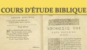 Reprise des cours d'étude biblique orthodoxe à Paris
