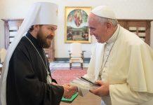 Mgr Hilarion a rencontré le pape François