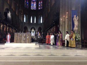Célébration des vêpres orthodoxes à Notre-Dame de Paris