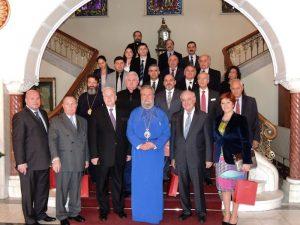 Rencontre de membres de l'Assemblée interparlementaire orthodoxe avec l'archevêque de Chypre