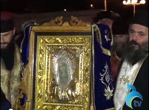 Séjour de l'icône myroblite de la Mère de Dieu dite « de l'attendrissement » en Géorgie