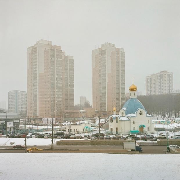Photographies de nouvelles églises orthodoxes récentes ou en construction dans la région de Moscou