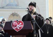 L'évêque de Makhatchkala et de Grozny Barlaam a participé à la manifestation dans la capitale tchétchène