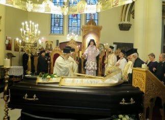 Obsèques de l'évêque d'Eumeneia Maxime (Patriarcat œcuménique) à Bruxelles