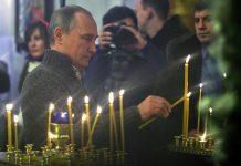 Le président Vladimir Poutine a fêté la Nativité du Christ dans l'église d'un village de la région de Voronej
