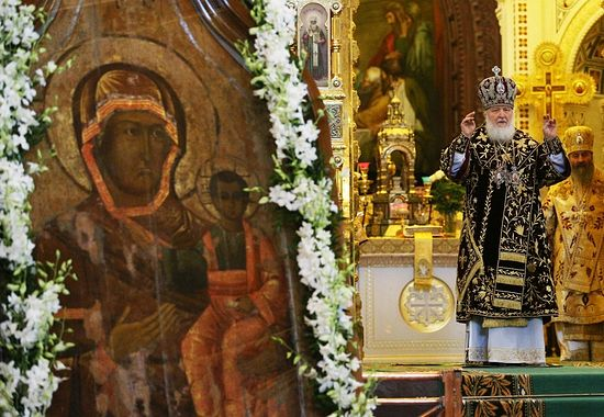 L'icône miraculeuse de la Mère de Dieu de Smolensk a été amenée à Moscou