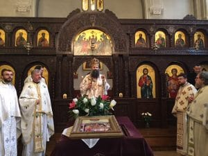 Le métropolite de Zagreb et Ljubljana Porphyre a célébré en l'église orthodoxe serbe de Paris et a prononcé une conférence au sujet du grand Carême