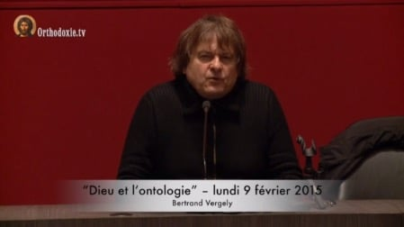 Bertrand Vergely :  « Dieu et l'ontologie »