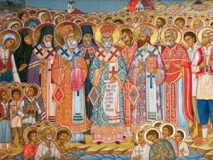Commémoration dans la prière des martyrs orthodoxes serbes de Jasenovac (Croatie)