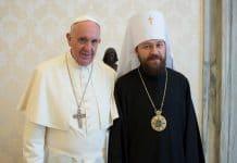 Le métropolite Hilarion reçu par le Pape François de Rome