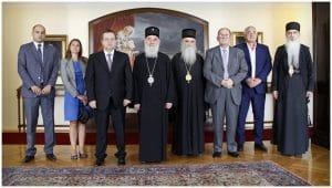 Le patriarche de Serbie Irénée a reçu, le 13 août, Ivica Dačić, premier vice-président du gouvernement serbe, chargé également des Affaires étrangères, ainsi que l'ambassadeur de Serbie auprès de l'UNESCO, le professeur Darko Tanasković