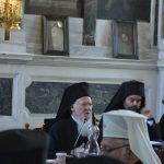 Discours du patriarche œcuménique Bartholomée à la synaxe de la hiérarchie du Trône (le 29 août 2015) – 1ère partie