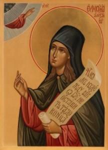 Sainte Euphrosyne d'Alexandrie (V)
