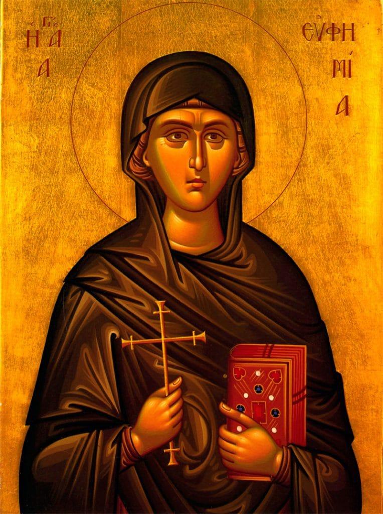 Sainte Euphémie, mégalomartyre à Chalcédoine (304)