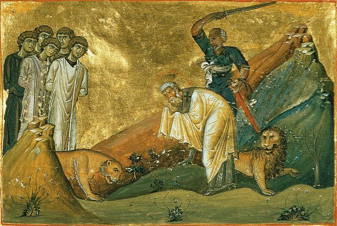 saint hiéromartyr Janvier, évêque de Bénévent et ses compagnons (305)
