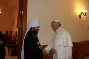 Rencontre du pape et du métropolite Hilarion de Volokolamsk