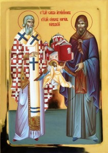 Icone Saint Sava et Saint Simon
