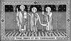 saint Denis, premier évêque de Paris, et ses compagnons, saint Rustique, prêtre, et saint Eleuthère, diacre, martyrs
