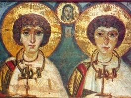 Saints martyrs Serge et Bacque (292)