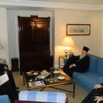 Rencontre du patriarche oecuménique Bartholomée et du métropolite Hilarion de Volokolamsk à Athènes