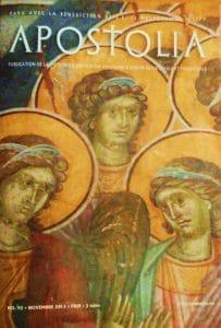 """Parution du n°92 (novembre 2015) de la revue """"Apostolia"""""""