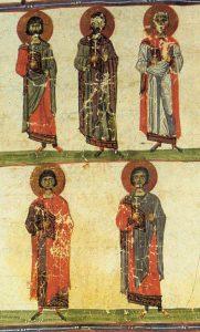 Saints Akindynos, Pégase, Aphtonius, Elpidiphore et Anempodiste et leurs compagnons, martyrs en Perse (vers 345)