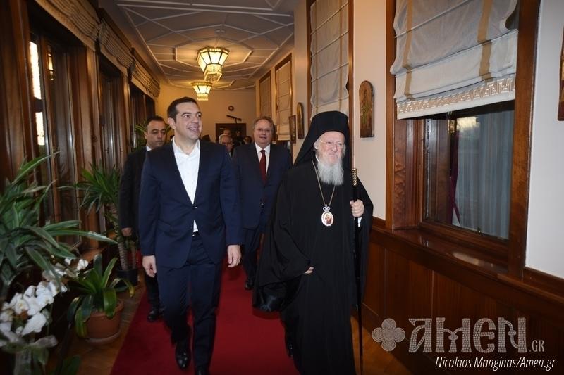 Le Premier ministre grec Alexis Tsipras a rencontré le patriarche œcuménique