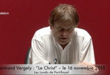 Bertrand Vergely : « Le Christ »