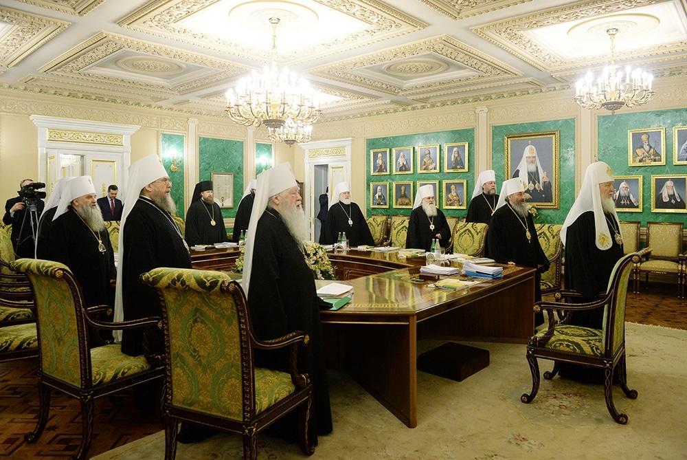 Réunion du Saint Synode de l'Église orthodoxe russe du 24 décembre 2015