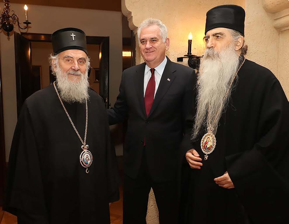 Le patriarche de Serbie Irénée a reçu le président serbe Tomislav Nikolić