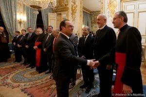 Le métropolite Emmanuel aux voeux du président de la République française aux autorités religieuses