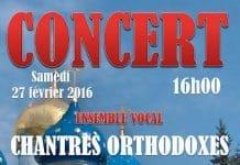 Un concert de l'ensemble vocal  masculin « Chantres orthodoxes russes » – samedi 27 février