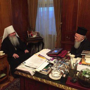 Visite au Patriarcat œcuménique de Constantinople du métropolite Tikhon, primat de l'Église orthodoxe en Amérique (OCA)