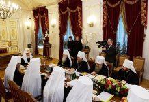 Session du Saint-Synode de l'Église orthodoxe russe à Saint-Pétersbourg
