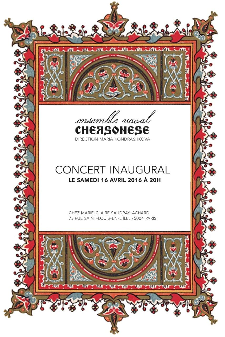Ensemble Chersonese—Concert du 16 avril 2016