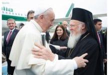 La visite sur l'île de Lesbos du patriarche Bartholomée avec le pape François et l'archevêque Jérôme d'Athènes