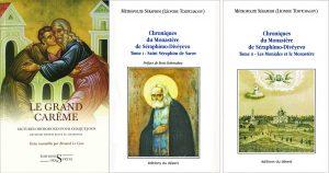 Présentation ce samedi 9 avril à la librairie L'Age d'Homme par Bernard Le Caro de la 2e édition de son livre «Le Grand Carême» et des «Chroniques du monastère de Séraphimo- Divéyevo» du métropolite Séraphin Tchitchagov