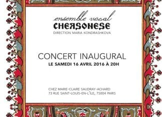 Concert de l'ensemble Chersonèse – le samedi 16 avril