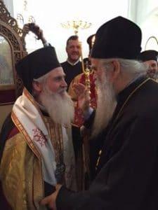 Le métropolite du Monténégro et du Littoral Amphiloque a participé à l'intronisation du nouveau métropolite de Fira (Église orthodoxe d'Albanie)