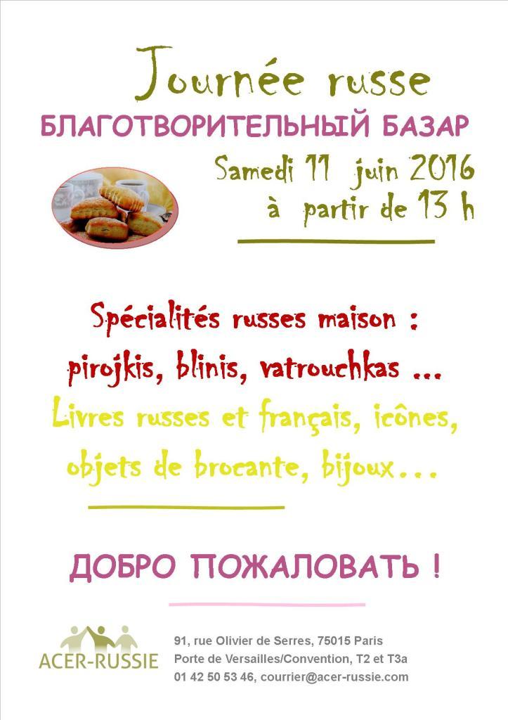 Affiche journée russe 2016
