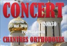 Concert donné par l'ensemble vocal masculin « Chantres orthodoxes russes » – 25 mai