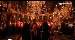 Film vidéo avec des extraits de l'office de Pâques au monastère athonite de Vatopédi